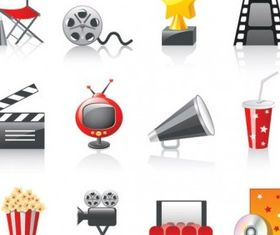 movie icon 3 vector material