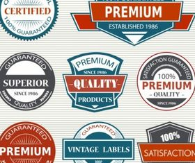 Vintage Labels free design vector