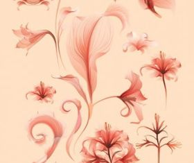 Flower free art vector