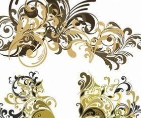 Floral Design Elements Vector vector