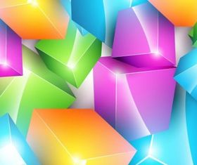 Colorful Cube Background shiny vector