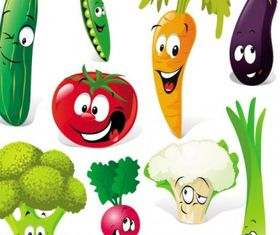 cartoon vegetables expression 01 vector