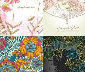Stylish Floral Backgrounds 2 vectors graphic