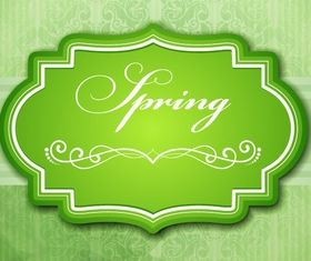Spring green frame Illustration vector