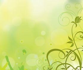 Floral swirl vector