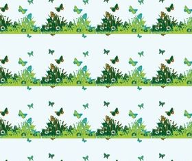 Butterfly border set creative vector
