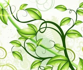 Green leaves background art vectors graphic