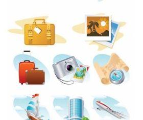 Travel theme icon design vector