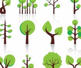 Abstract Trees Free Illustration vector