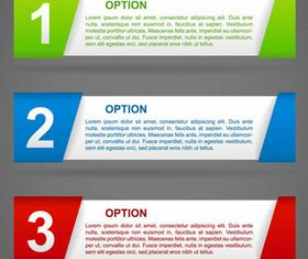 Color Step Banners vector