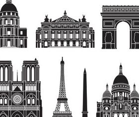 Landmarks Set vector graphic