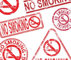 No Smoking Labels Mix vector design