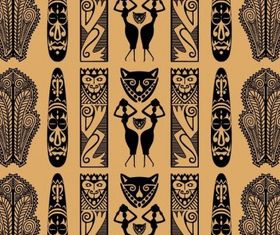 Traditional African Pattern shiny vector