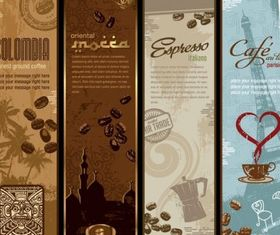 coffee bnner theme vectors graphic