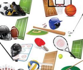 sports equipment 01 vector graphics