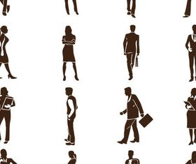 Business People Set 4 vector graphic