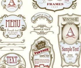 beautiful gorgeous bottle label affixed vector