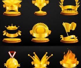 gold medal icon creative vector