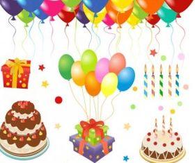 happy birthday clip art set vector