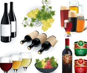wine and beer vector graphics