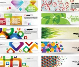 dynamic colorful banner vector
