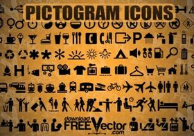 Free Pictogram Icons shiny vector