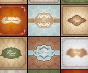 classic pattern cards background 02 set vector