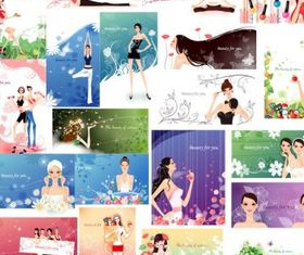 women and fashion pattern vector
