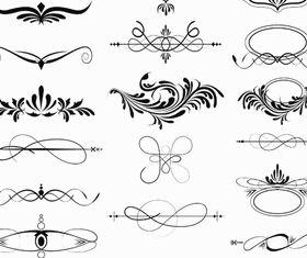 Calligraphic Elements 3 vector