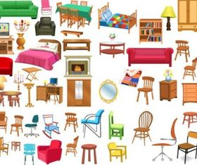 variety furniture clip art vector