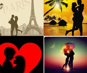 Couples Backgrounds vectors graphic