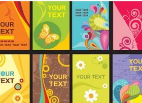 Colorful card templates design vectors