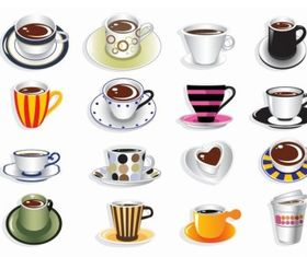 Coffee Cup Vector Set graphics
