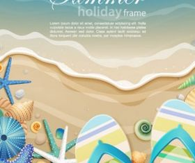 beautiful ocean background cartoon vector