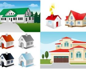 5 house design vector