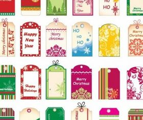 Christmas Tickets and Tags vector