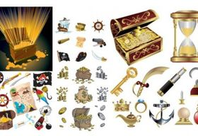 pirate treasure series vectors graphics