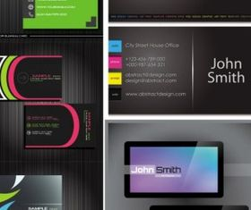 business card templates Illustration vector
