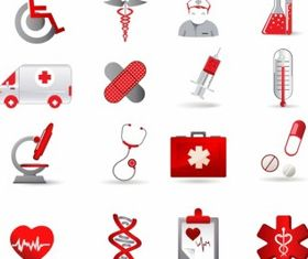 Health Care Icon Set vector graphics