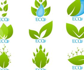 Different Ecology Elements vector set