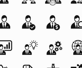 Business People Icons 14 vector graphic