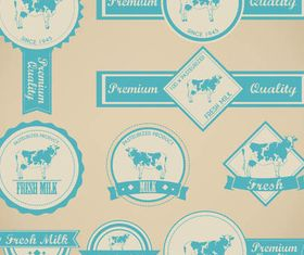 Labels for Milk vector