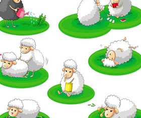 Funny Sheep vector
