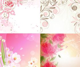 Stylish Floral Backgrounds vectors