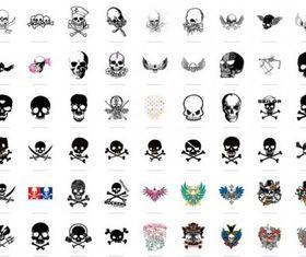 trend skull series 2 54 vector