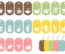 24 Food Symbols vector