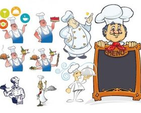 chef series creative vector
