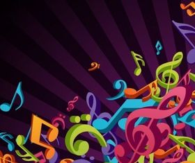 3D Colorful Music Background design vectors