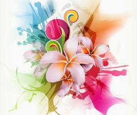 Abstract Floral Illustration art vectors graphics