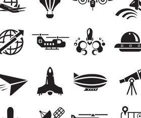Transport Black Icons design vector